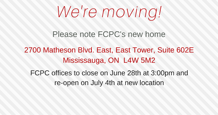 FCPC is moving offices